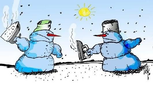 pelea muñecos de nieve