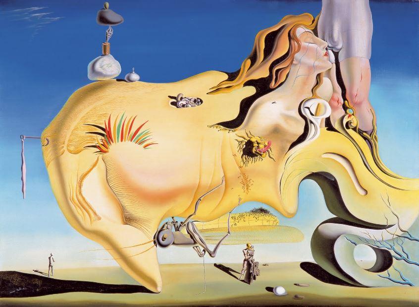 Obra 'El gran masturbador' de Dalí.