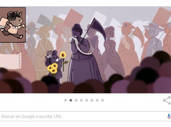 Doodle de Google dia de la mujer
