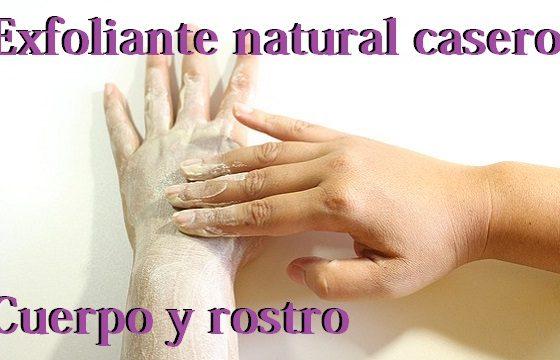 exfoliante casero natural para cuerpo y rostro, limpieza de cutis cara,