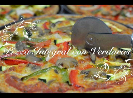 Pizza Casera Integral con Verduras en Thermomix.