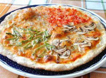 pizza de verduras en thermomix