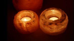 lámparas de sal, beneficios, velas de sal, luz calida, luz relajante,
