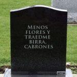 7 epitafios para morirse de la risa.