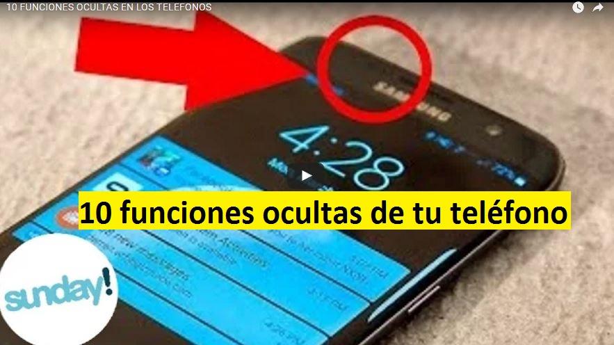 10 funciones ocultas de tu telefono o cellular