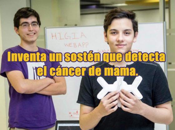 cáncer de mama. sosten que detecta precozmente