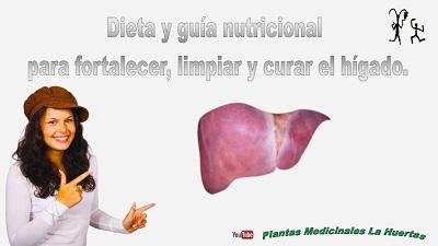 Dieta nutricional para fortalecer, limpiar y curar hígado. Hígado graso.