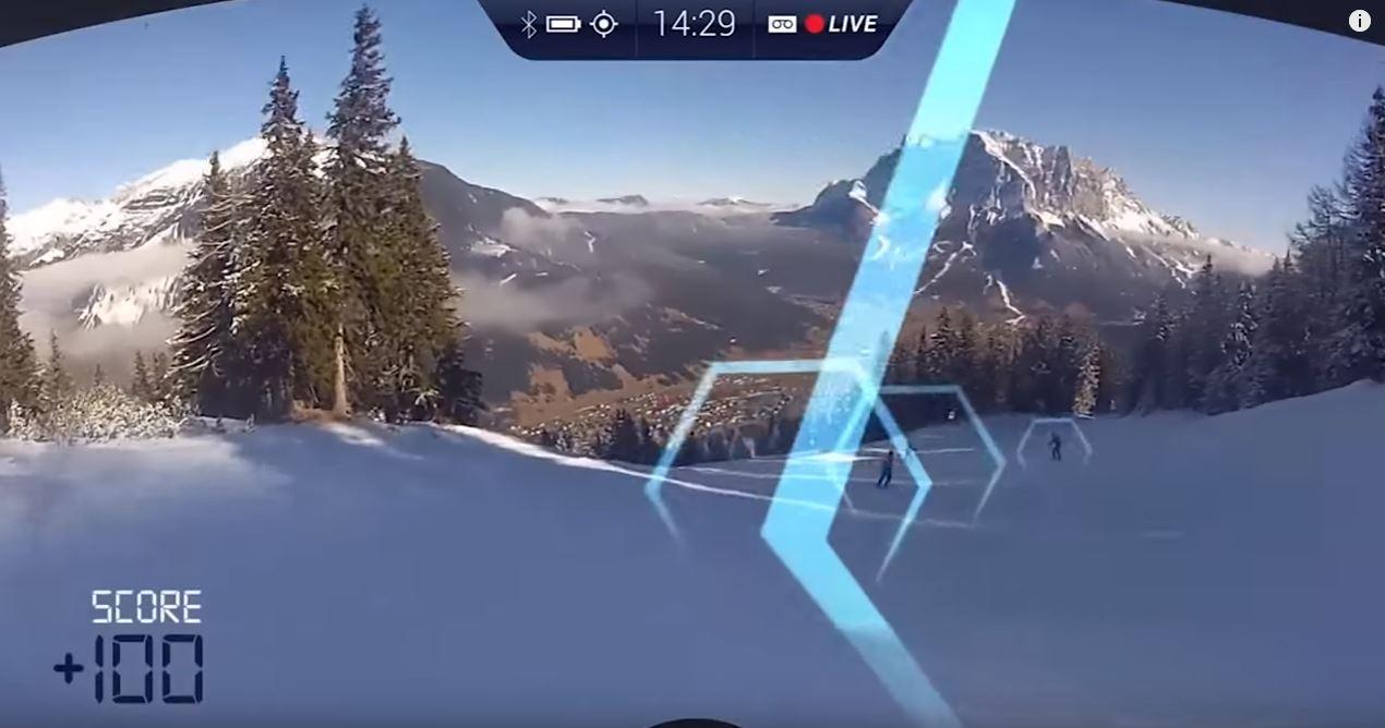 gafas realidad aumentada ride on . dispositivos para deportistas