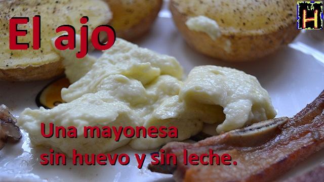 Mayonesa con leche sin aceite