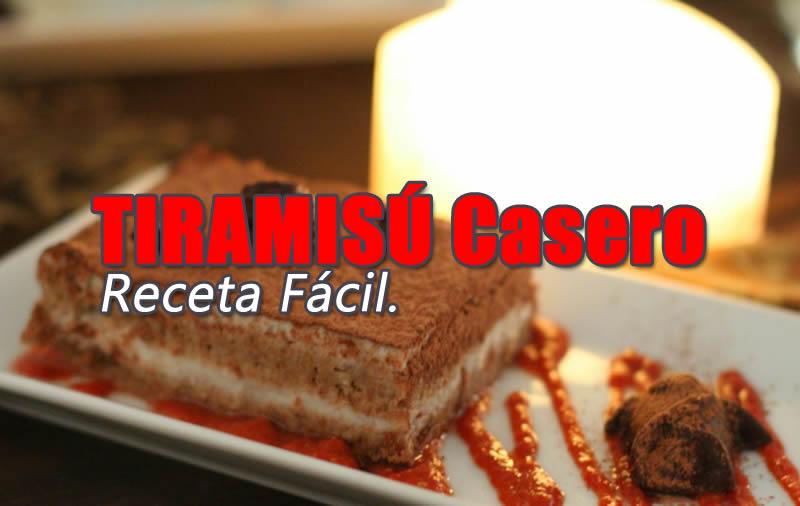 Tiramisu Casero Receta Fácil