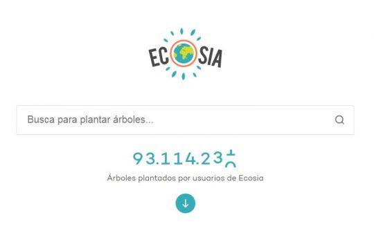 Árboles plantados por Ecosia hasta Mayo del 2020