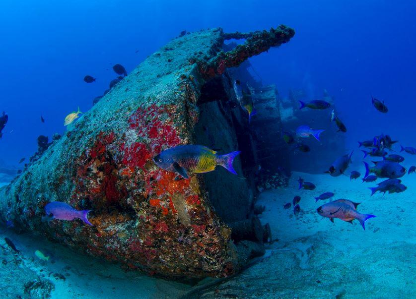 imágenes de barcos hundidos cancun mexico