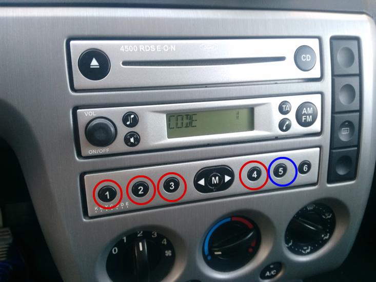 codigo radio ford ver introducir codigo de desbloqueo