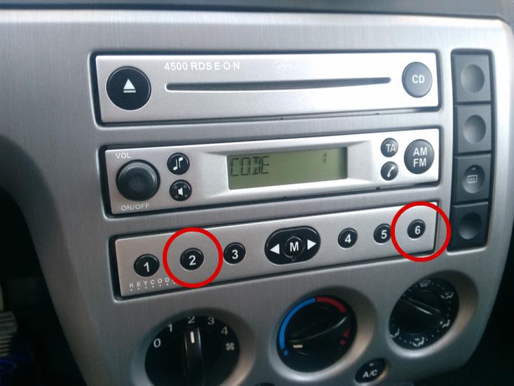 codigo radio ford ver serial