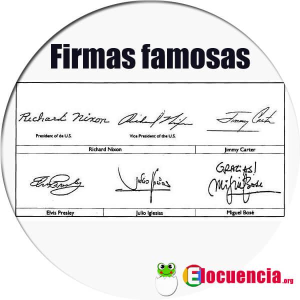 firmas de famosos grafología