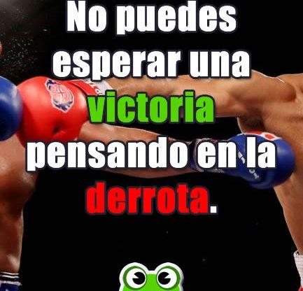 Frases Motivadoras. No puedes esperar un victoria...