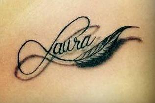 tatuajes mujeres pequeños infinito nombre