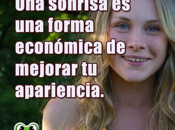 Frases Motivadoras. Una sonrisa es una forma económica...