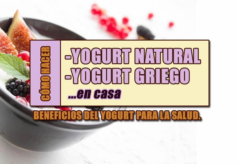 como hacer yogurt natural o yogurt griego casero sin yogurtera.