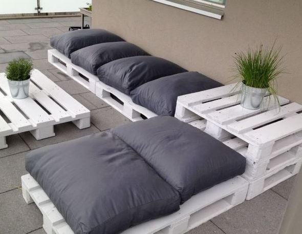 Ideas para decorar reciclando Muebles de jardín de palets reciclados