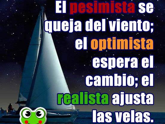 Frases Motivadoras. El pesimista, el optimista y el realista...