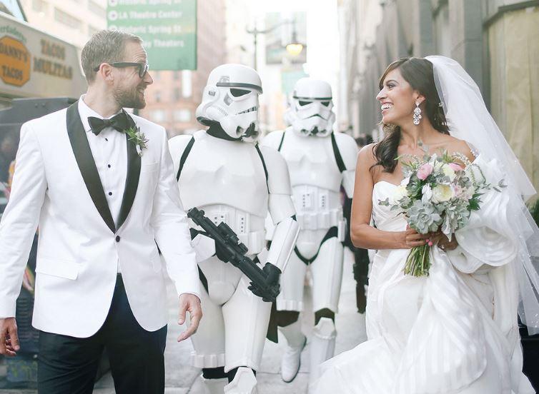 ideas boda la guerra de las galaxias