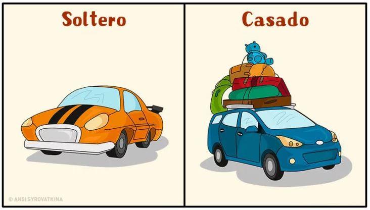 solteros vs casados el auto