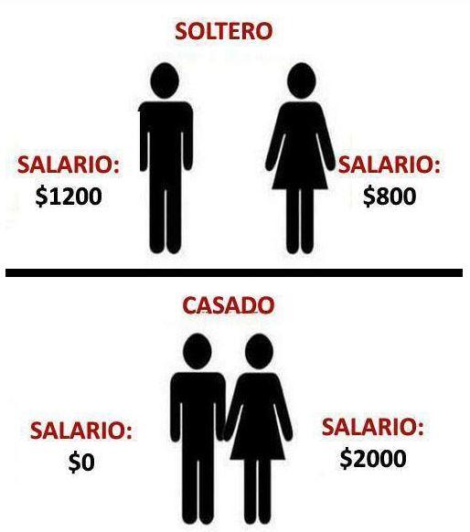 solteros vs casados el salario