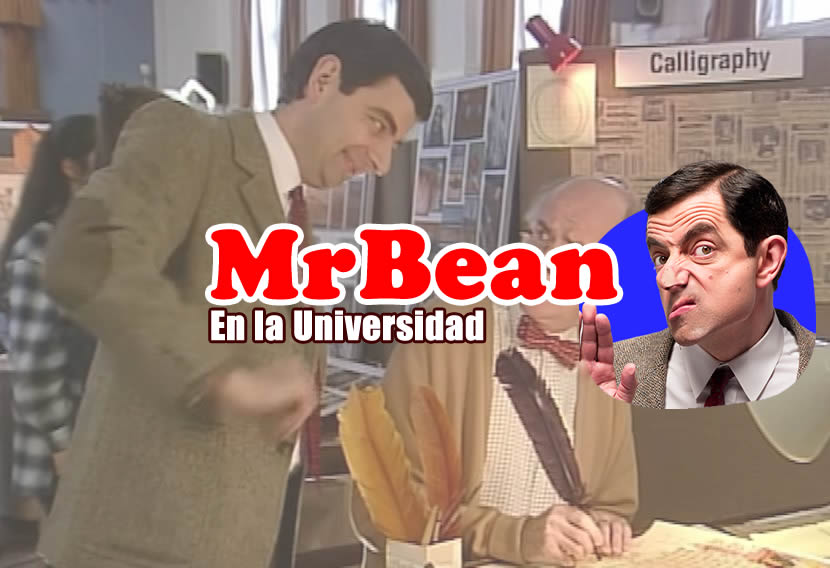 Mr. Bean en la universidad. Video de humor
