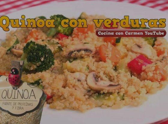 quinoa receta con verduras cocina con carmen