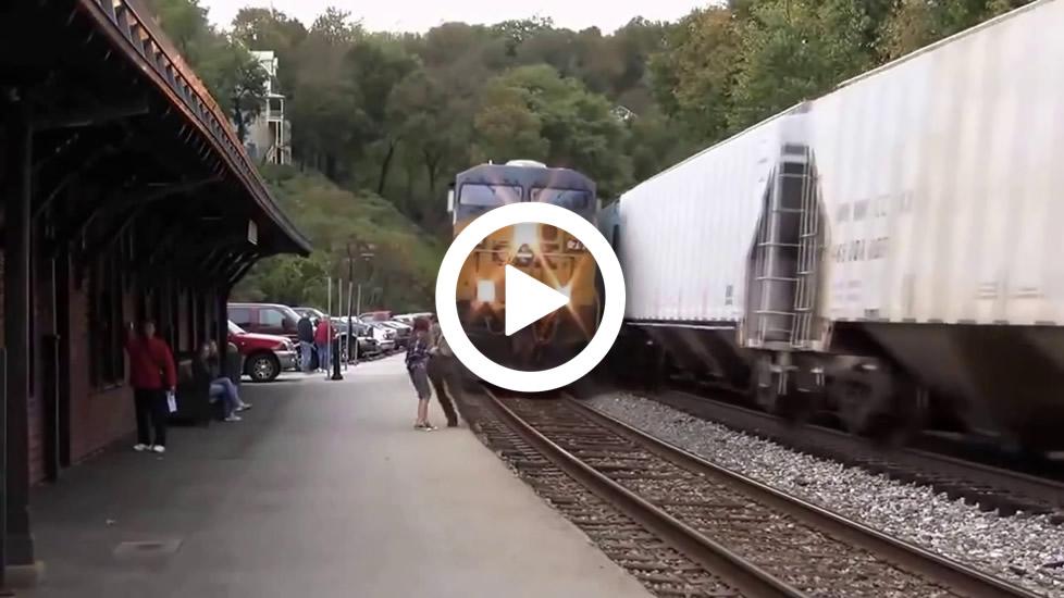 arroyados por un tren