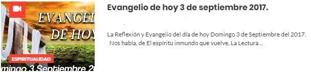 evangelio septiembre