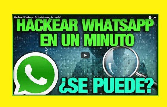 hackear whatsApp en un minuto se puede