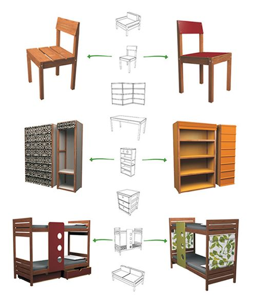 1001 planos de muebles de madera gratis especial for Planos muebles de cocina para armar