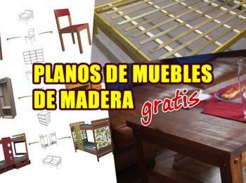 planos de muebles de madera portada