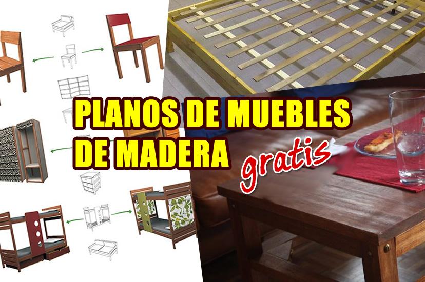 1001 planos de muebles de madera gratis especial for Proyecto de muebles de madera