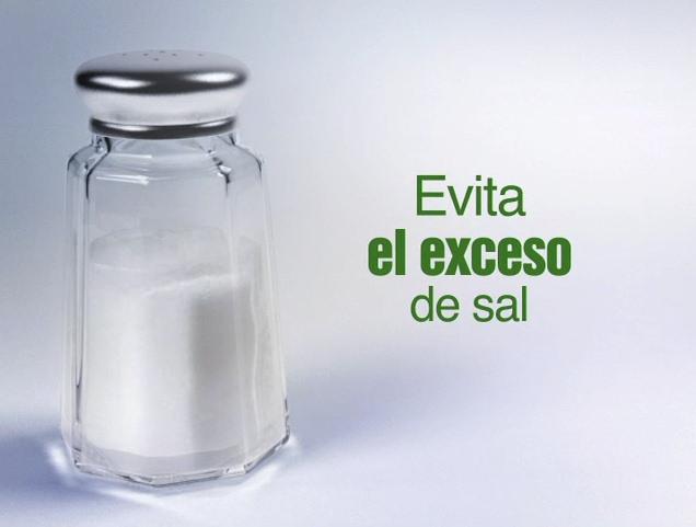 exceso de sal