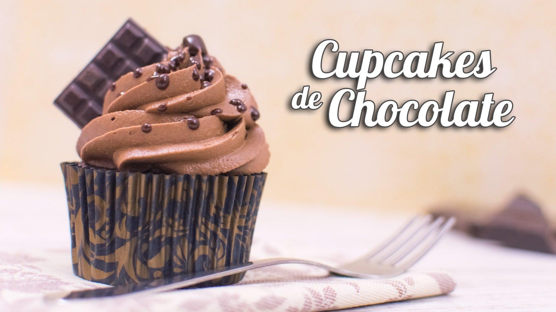 receta cupcakes de chocolate