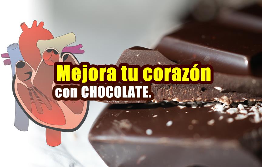 mejora la salud del corazón con chocolate