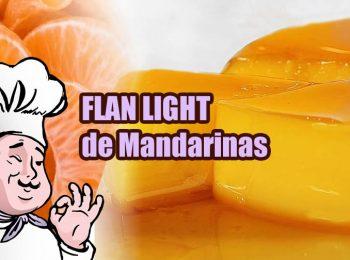 Flan light de mandarinas portada