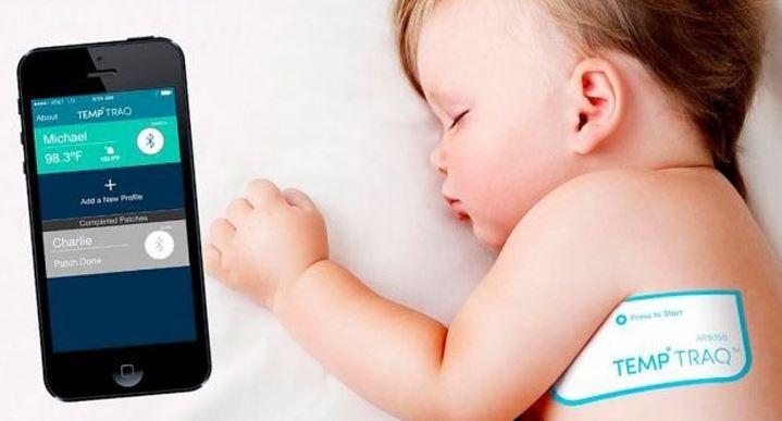 Inventos para bebés. Pegatina - Termómetro