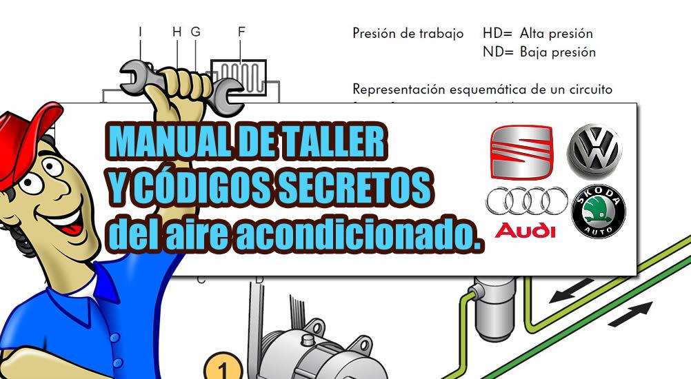 ⊛ Manual del aire acondicionado Audi/Seat/Wolkswagen/Skoda