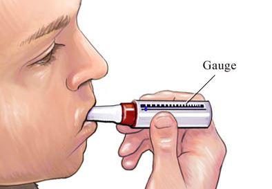 asma bronquial peak expiratory flow