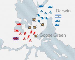 la guerra de las islas malvinas mapa