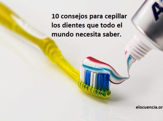 cepillar los dientes correctamente
