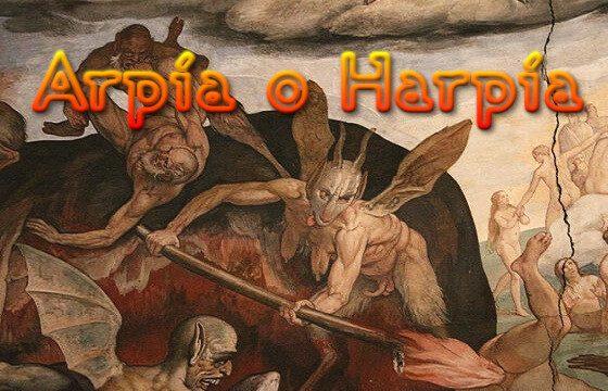 Arpía o Harpía que significa definición RAE mitología... y más
