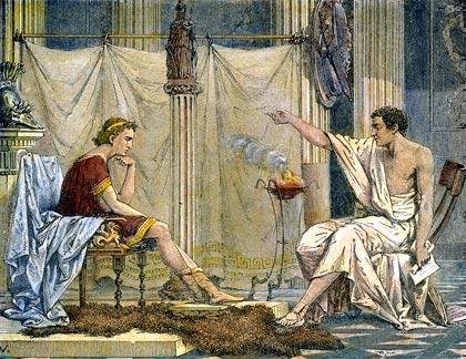 Aristóteles y Alejandro Magno