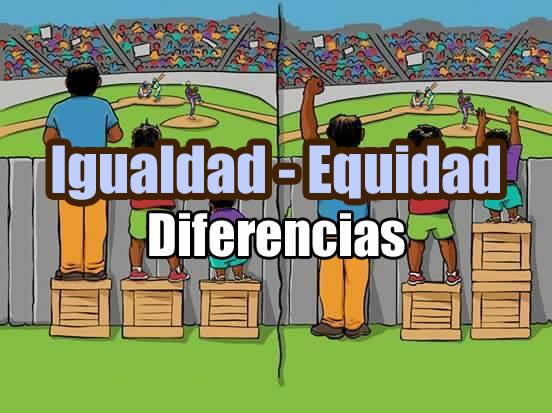 diferencia entre igualdad y equidad 1