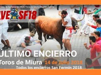 octavo y ultimo encierro san fermín 2018 pamplona navarra miura toros 8