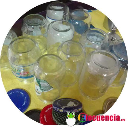 frascos de vidrio reutilizados para hacer conservas
